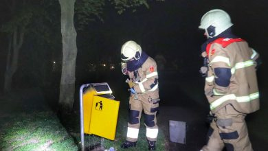 Photo of Prullenbak in brand in park Lookveld Veghel