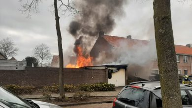 Photo of Felle vlammen bij schuurbrand in Uden